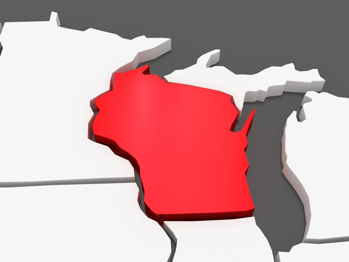 3d wisconsin map